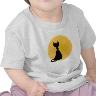 Cat Moon Fun Kitty Cartoon for Babes Shirt