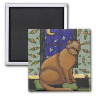 Cat, Moon & Stars - magnet