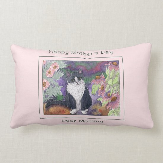 Cat Mother's day cushion, Happy Mother's day Mommy Lumbar Pillow