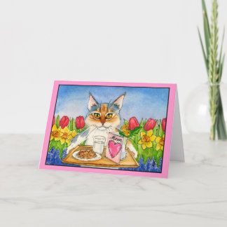 Cat Mother's Day greeting card