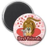 Cat & Mouse Friends Fridge Magnet