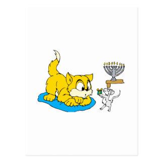 Cat & Mouse Postcard