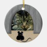 Cat & Mouse Standoff Ornaments