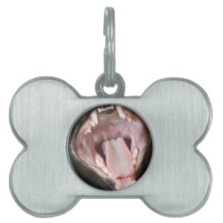 Cat Mouth Wide Open Pet ID Tag