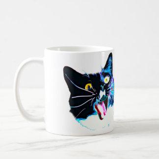Cat Mug- I came I saw I FRAZZED Blue Junie