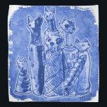 """cat mummies blue bandana<br><div class=""""desc"""">design by anticute!..</div>"""