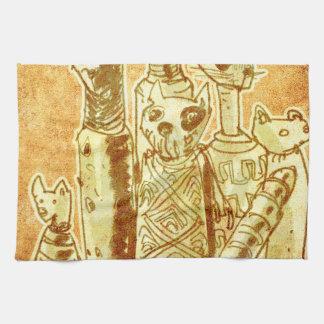 cat mummies hand towel