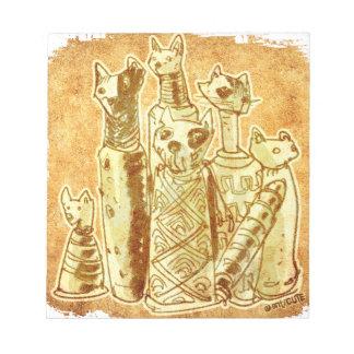 cat mummies notepad