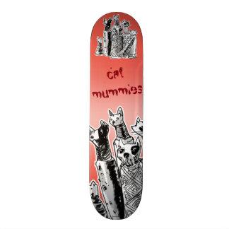 cat mummies on streets skateboard
