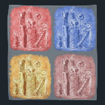 """cat mummies quad color bandana<br><div class=""""desc"""">design by anticute!..</div>"""