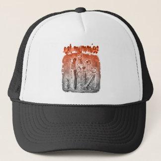cat mummies red and gray tint trucker hat
