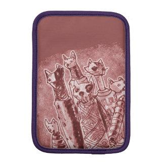 cat mummies red iPad mini sleeve