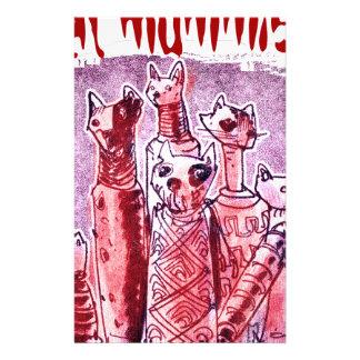 cat mummies stationery