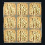 """cat mummies yellow tiled bandana<br><div class=""""desc"""">design by anicute!..</div>"""