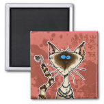 cat mummy 2 inch square magnet
