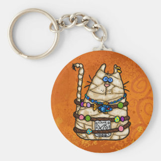 cat mummy keychain