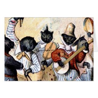 Cat Musicians Card