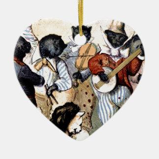Cat Musicians Ceramic Ornament