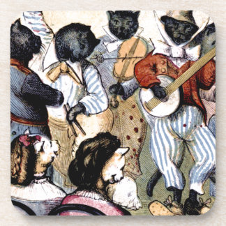Cat Musicians Coaster