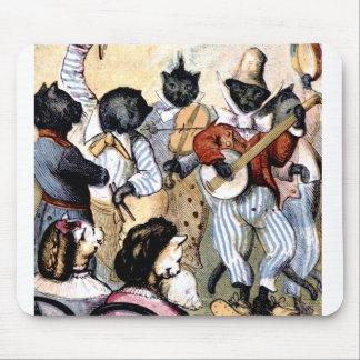 Cat Musicians Mouse Pad