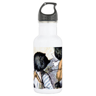 Cat Musicians Stainless Steel Water Bottle