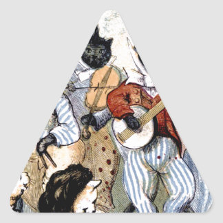 Cat Musicians Triangle Sticker