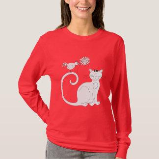 Cat n Bird ... the Daisy T-Shirt
