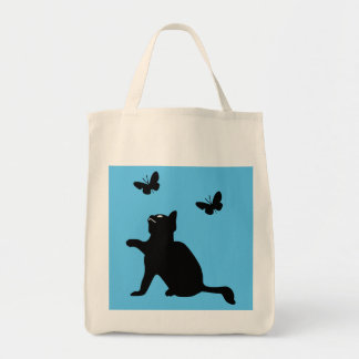 Cat n Butterflies Re-usable Grocery Tote