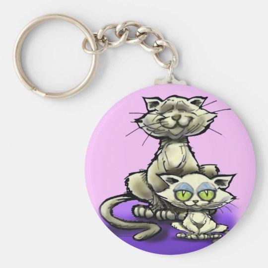 Cat n Kitten Keychain