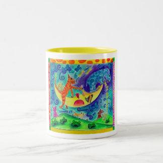 Cat 'n Moon Mugs #1