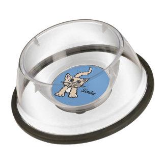 Cat name graphic cute blue cat bowl