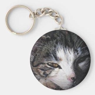 Cat Named Lauren Basic Round Button Keychain