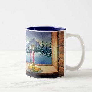 CAT NAP by SHARON SHARPE Two-Tone Coffee Mug