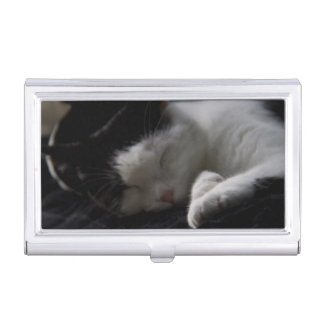 Cat Nap Case For Business Cards