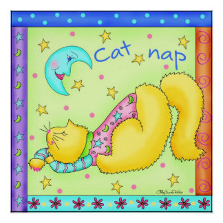 Cat Nap Cat Poster