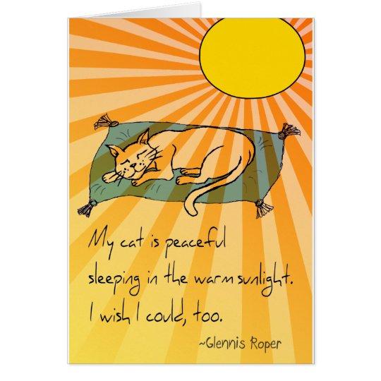Cat Nap haiku Card