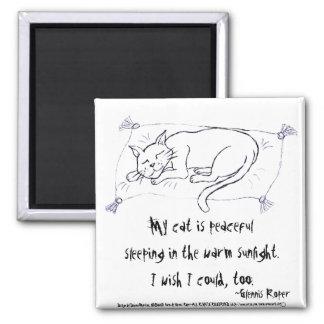 Cat Nap haiku Fridge Magnet