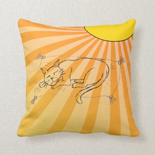 Cat Nap haiku Throw Pillow