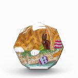 Cat Nap in an Easter Basket Acrylic Award