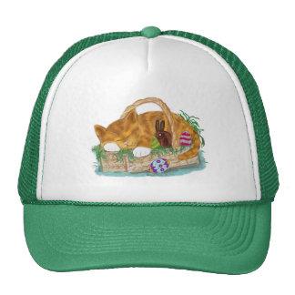 Cat Nap in an Easter Basket Trucker Hat