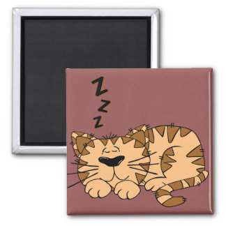 Cat Nap Kitty Magnet