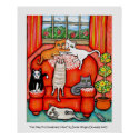 Cat Nap On Grandma's Chair print