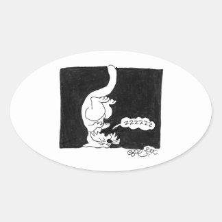 Cat Nap! Oval Sticker