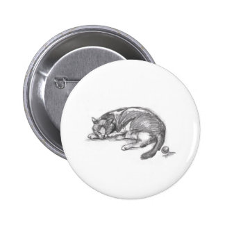Cat Nap Pinback Button