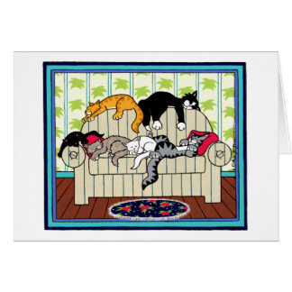 CAT NAPPERS GREETING CARDS