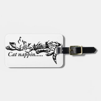 Cat nappin.......... luggage tag