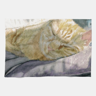 Cat Napping Kitchen Towels