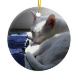 Cat napping ornaments