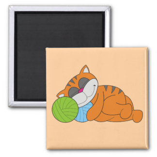 Cat Napping Tshirts and Gifts Fridge Magnets