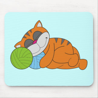 Cat Napping Tshirts and Gifts Mousepads